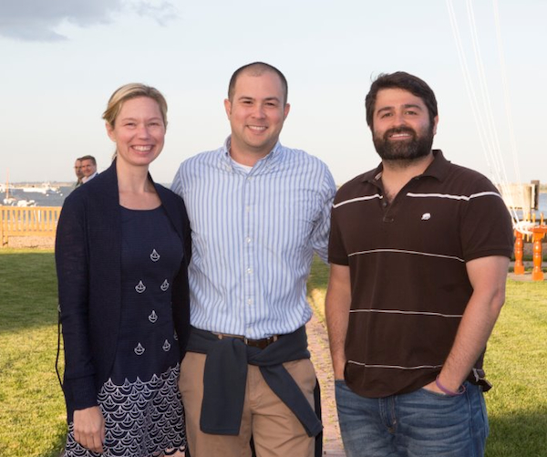 Heather and Lee Hower with Slava Rubin, co-founder and CEO of Indiegogo.
