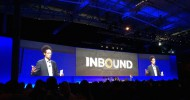 Malcolm Gladwell speaks at HubSpot's Inbound conference in South Boston (photo by Kyle Alspach)