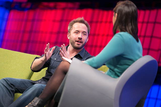 DROPBOX CO-FOUNDER AND CEO SPEAKS WITH CNNMONEY'S LAURIE SEGALL (NAOISE CULHANE, SPORTSFILE)